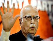 l k advani resigned