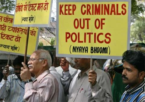 protest against criminal politicians