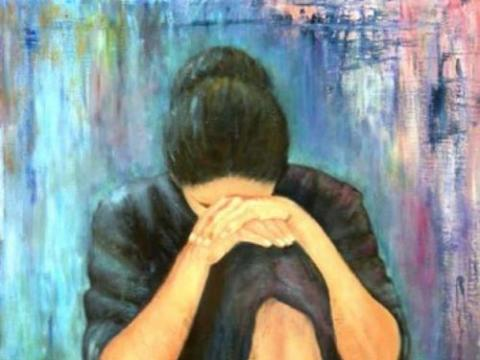 Grief painting by Cynthia Angeles