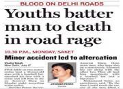 road rage in delhi