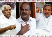 Yeddyurappa, Kumaraswamy, Siddaramaiahi