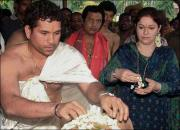 sachin with wife anjali