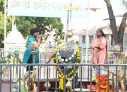 women perform puja in shani temple