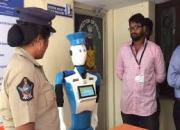 Cybira robot recieves complaints from public in vishakapattanam police station