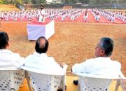 yoga demonstration by cpim