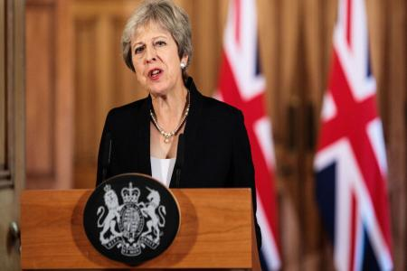 BRITISH PRIME MINISTER TERESA MAY RESINGNS