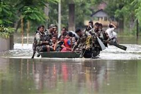 FLOOD IN NORTHERN INDIA